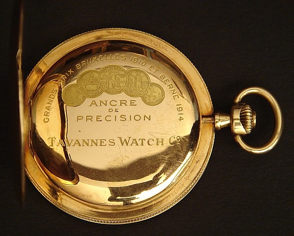 how to open a tavannes pocket watch
