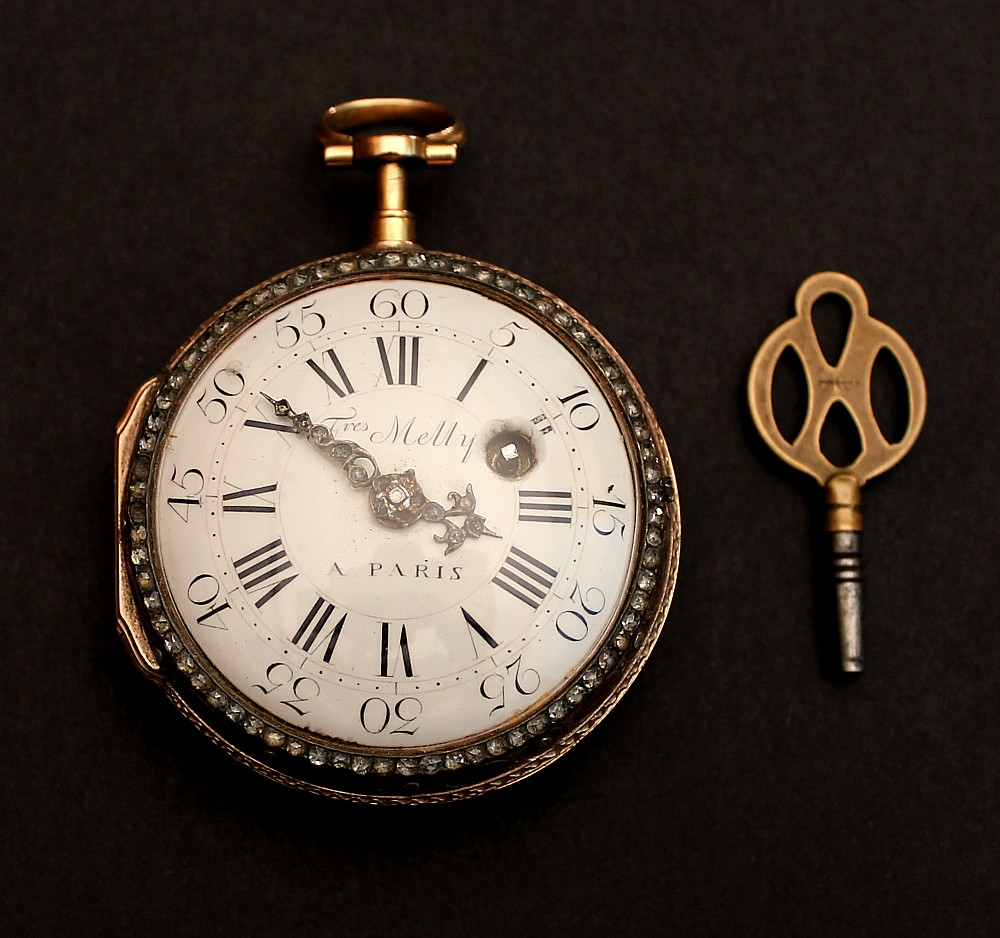 France paris pocket watch gold enamel diamonds freres melly 18th century for Watches of france